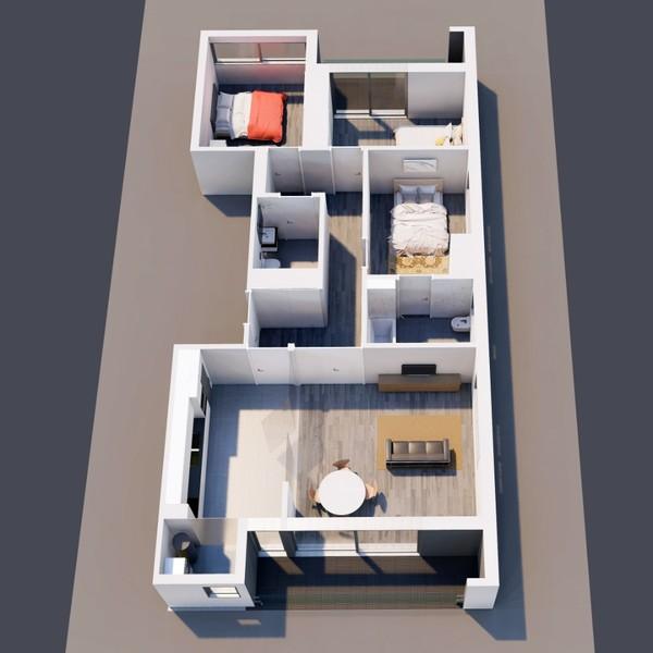 Apartment Modern T3 Feira Santa Maria da Feira - garage, air conditioning