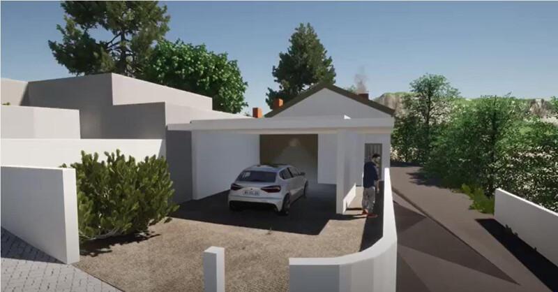 House to rebuild V4 Arrifana Santa Maria da Feira - fireplace, garden, double glazing, garage, equipped kitchen
