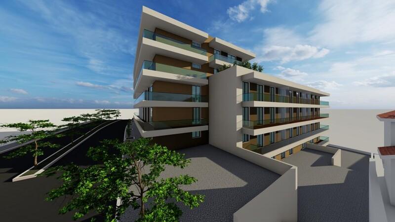 Apartamento T3 em construção São João da Madeira - cozinha equipada, painel solar, ar condicionado, isolamento acústico, vidros duplos, caldeira, isolamento térmico, varandas, garagem