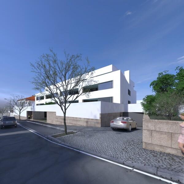 Empreendimento Comercial zona histórica Oliveira de Azeméis - terraços, ar condicionado, varandas, zonas verdes