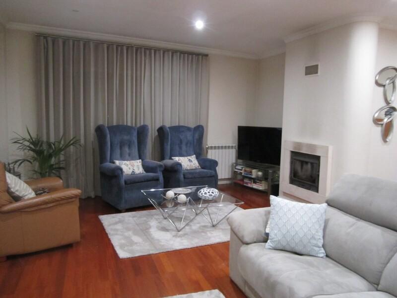 Apartment T3 São João da Madeira - balconies, central heating, double glazing, great location, kitchen, garage, fireplace, balcony, boiler
