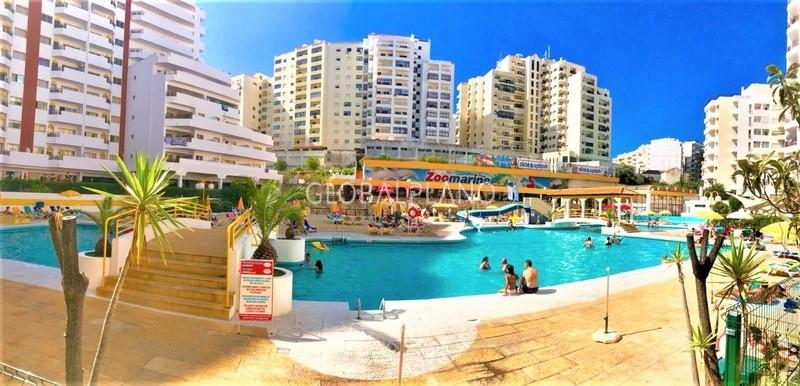 Apartamento T1+1 Praia da Rocha Portimão - piscina, varanda