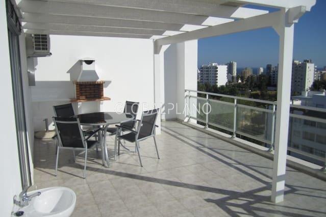 Apartamento com vista mar T2 Alto do Pacheco Portimão - terraço, varanda, vista mar, cozinha equipada