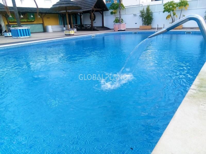 Apartamento T1 Praia da Rocha Portimão - terraço, condomínio fechado, garagem, piscina