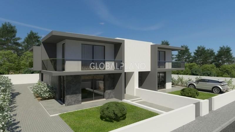 Moradia V3 em construção Bela Vista/Parchal Lagoa (Algarve) - jardim, painéis solares, varandas, ar condicionado, terraço
