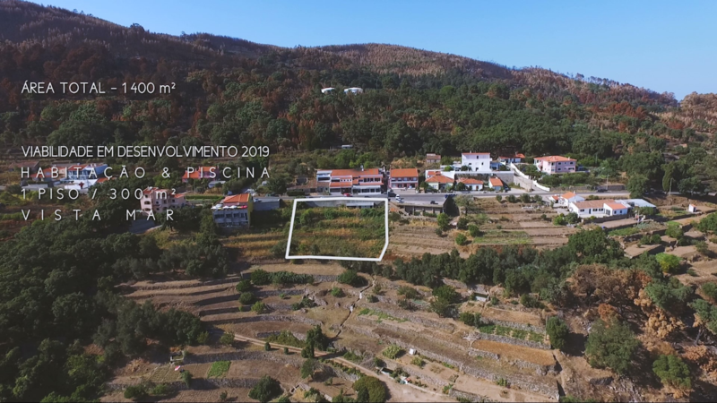 Plot with 1400sqm Ceiceira, Monchique - construction viability, easy access