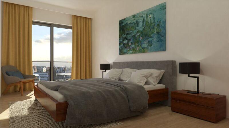 Apartamento T3 novo no centro Portimão - parqueamento, bbq, zonas verdes, arrecadação, garagem, isolamento térmico, varanda, ar condicionado
