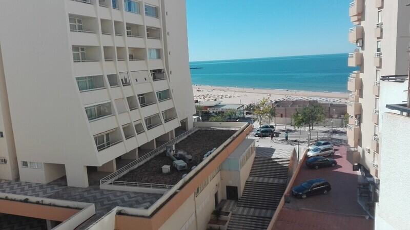 Apartment Refurbished sea view T1 1ª linha Praia Rocha Portimão - air conditioning, balcony, furnished, balconies, sea view, equipped