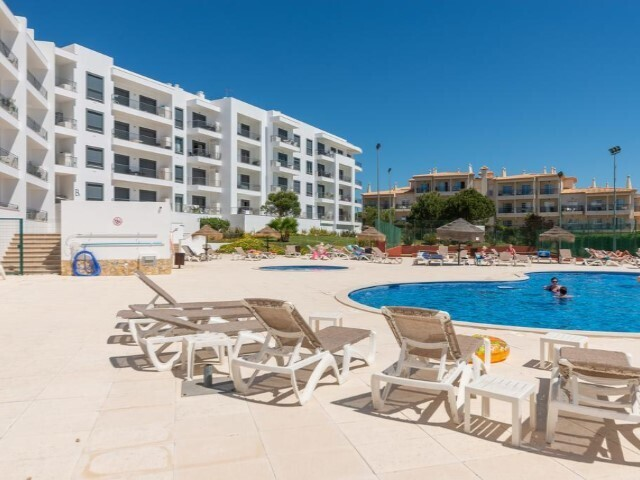 Apartment sea view T2 Olhos de Água Albufeira - terrace, balcony, swimming pool, garage, tennis court, sea view