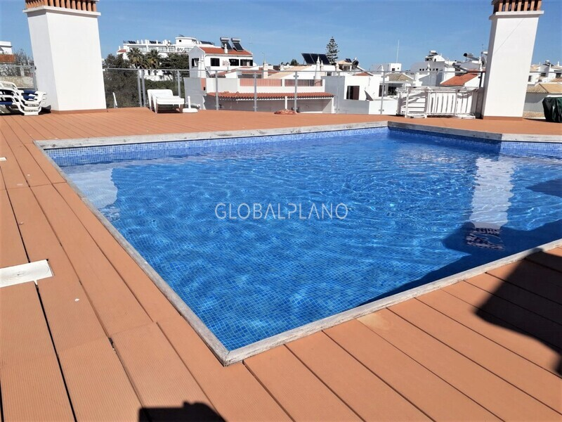 Apartment T1 Modern in the center Alvor Centro Portimão - terrace, swimming pool, air conditioning, balcony, kitchen, alarm, equipped, great location, store room, garage