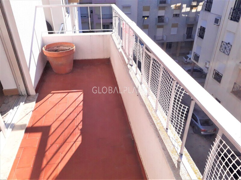 Apartamento T3 no centro Centro Silves - varanda