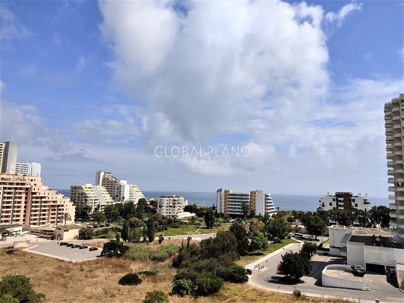 Apartamento com vista mar T1 3 Castelos, Praia da Rocha Portimão - vista mar, piscina, jardim, garagem, bonitas vistas, varanda, ar condicionado