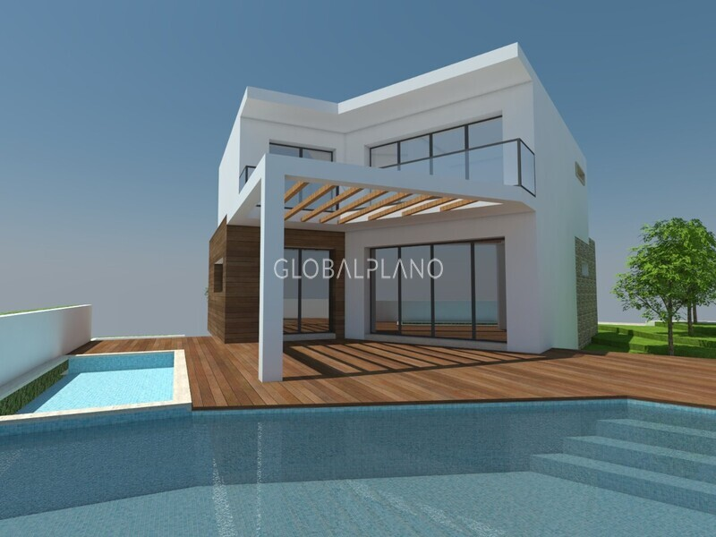 Moradia V3 Armação de Pêra Silves - vista mar, terraço, garagem, piscina