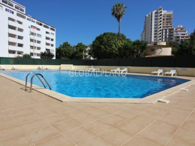 Apartamento T1 com vista mar Montechoro Albufeira - vista mar, piscina, varanda, mobilado, parqueamento, equipado, jardim
