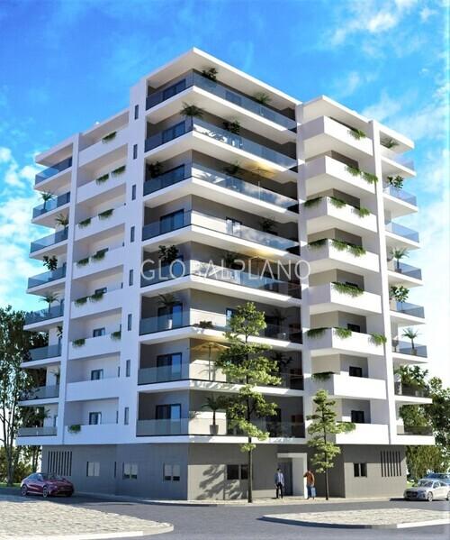 Apartamento em construção T2 Portimão - painel solar, painéis solares, equipado, piso radiante, caldeira, varandas, bbq, lareira, isolamento térmico