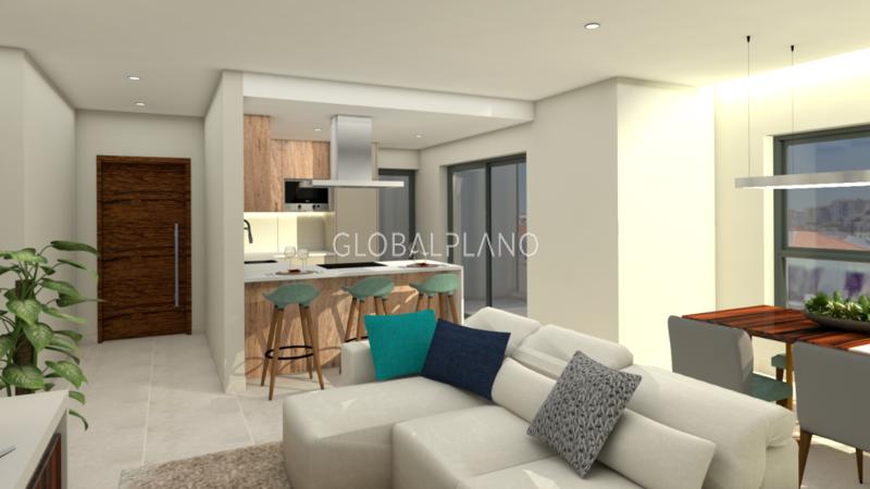 Apartamento em construção T2 Portimão Centro  - varanda, garagem, cozinha equipada