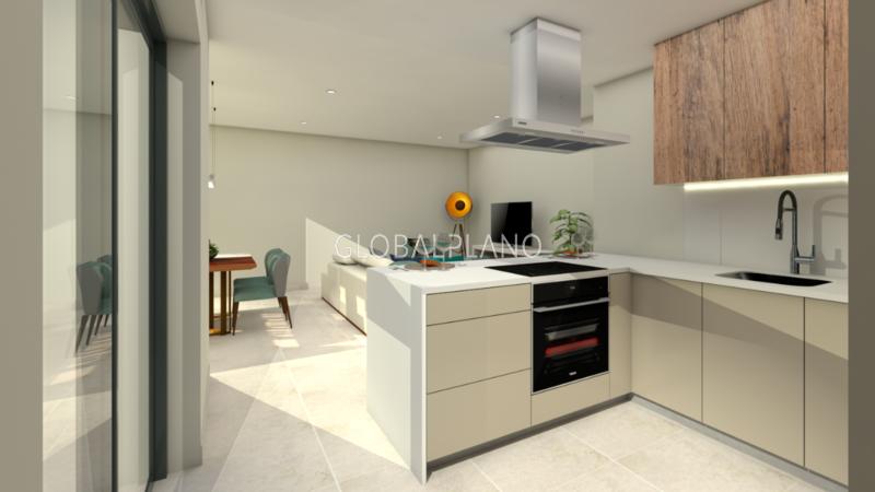 Apartamento novo em construção T3 Portimão Centro  - garagem, cozinha equipada, varanda