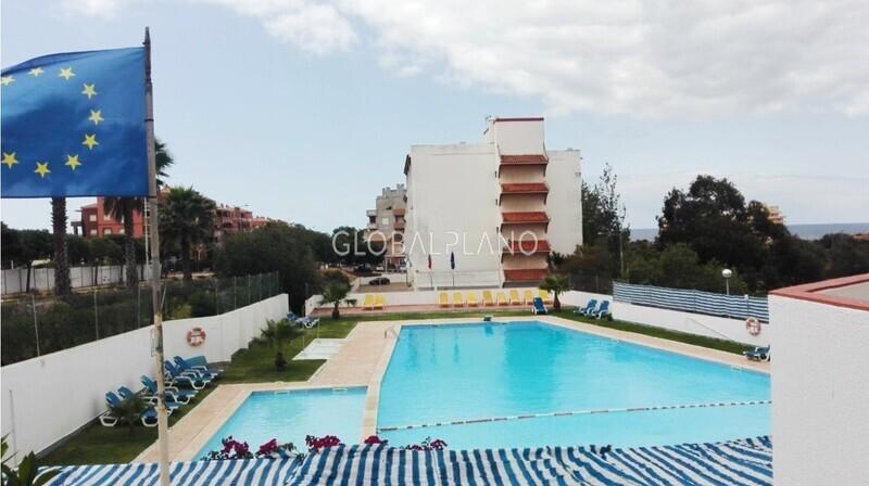 Apartamento T1 Praia da Rocha  Portimão - varanda, zona calma