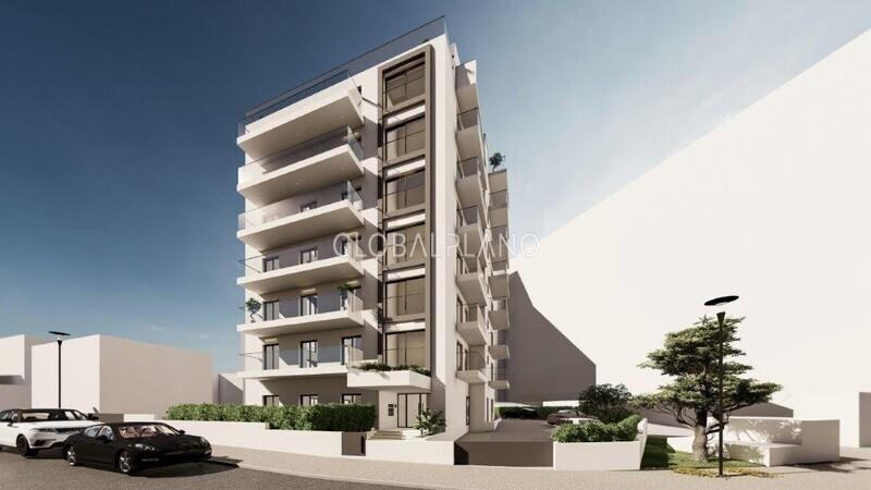 Apartamento novo T2 Praia da Rocha Portimão - equipado, varanda, painéis solares, ar condicionado