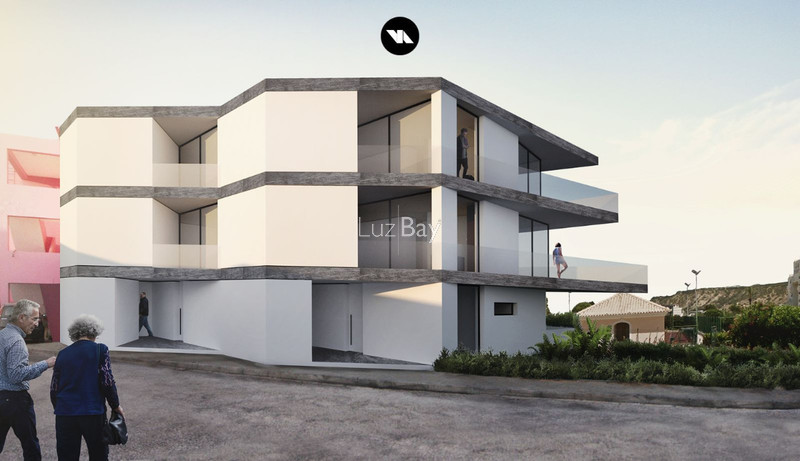 Apartamento T2 no centro Praia da Luz Lagos - jardins, vista mar, ar condicionado, varandas, terraço