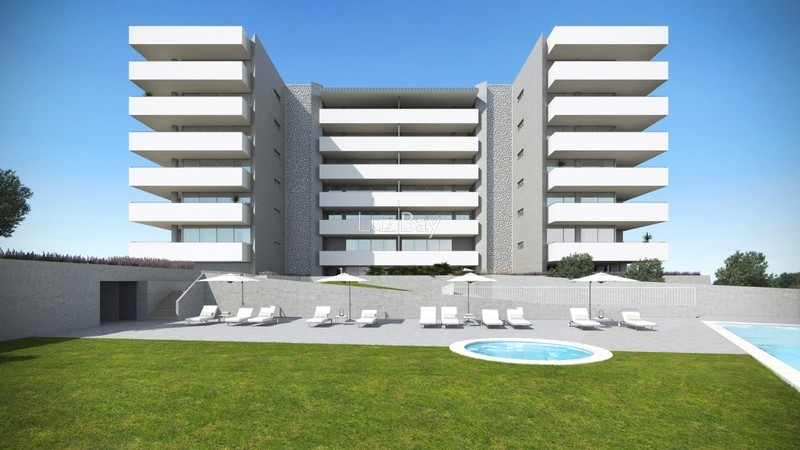 Apartment T2 Lagos Santa Maria - swimming pool, condominium, garden, balcony, barbecue