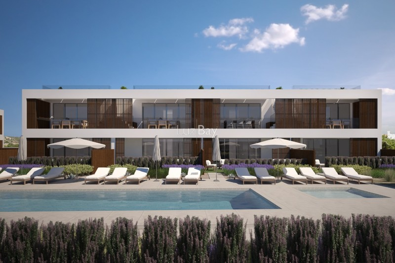Apartment T2 Burgau Luz Lagos - store room, balconies, swimming pool, gardens, terrace, air conditioning, balcony, garage