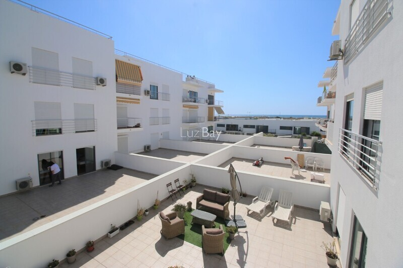 Apartment T2 sea view Lagos Santa Maria - kitchen, fireplace, sea view, store room, balcony