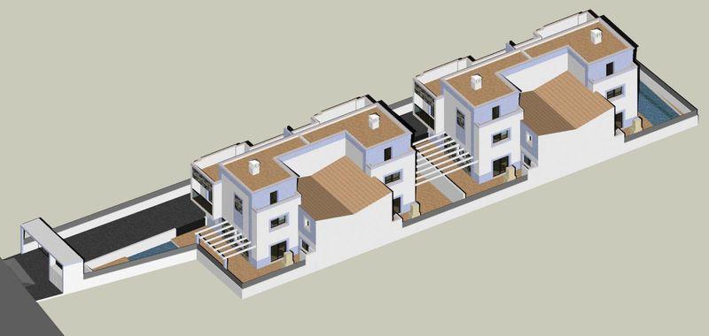 Moradia nova V3+1 Manta Rota Vila Nova de Cacela Vila Real de Santo António - ar condicionado, garagem, terraço, sótão, cozinha equipada
