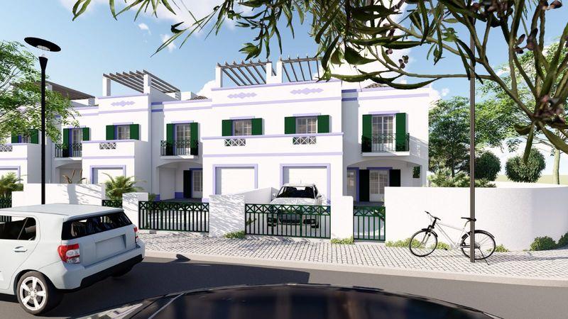 Moradia em construção V4 Tavira - piscina, bbq, ar condicionado, terraços, jardim, garagem, varandas, painéis solares