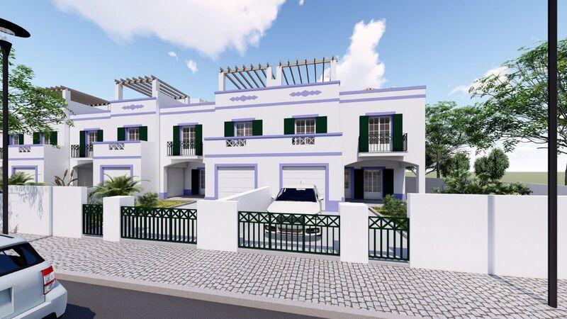 Moradia V4 em construção Tavira - garagem, ar condicionado, terraços, jardim, painéis solares, varandas, bbq, piscina