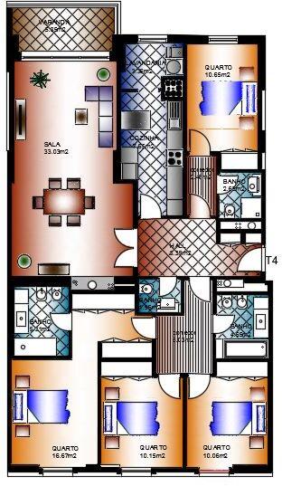 Apartamento T4 novo em construção Alta de Lisboa Lumiar - parqueamento, cozinha equipada, arrecadação