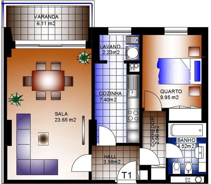 Apartamento em construção T1 Alta de Lisboa Lumiar - arrecadação, parqueamento, cozinha equipada