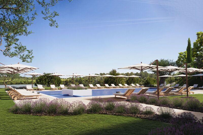 Apartamento T2 de luxo Sesmarias Vila Nova de Cacela Vila Real de Santo António - terraço, piscina
