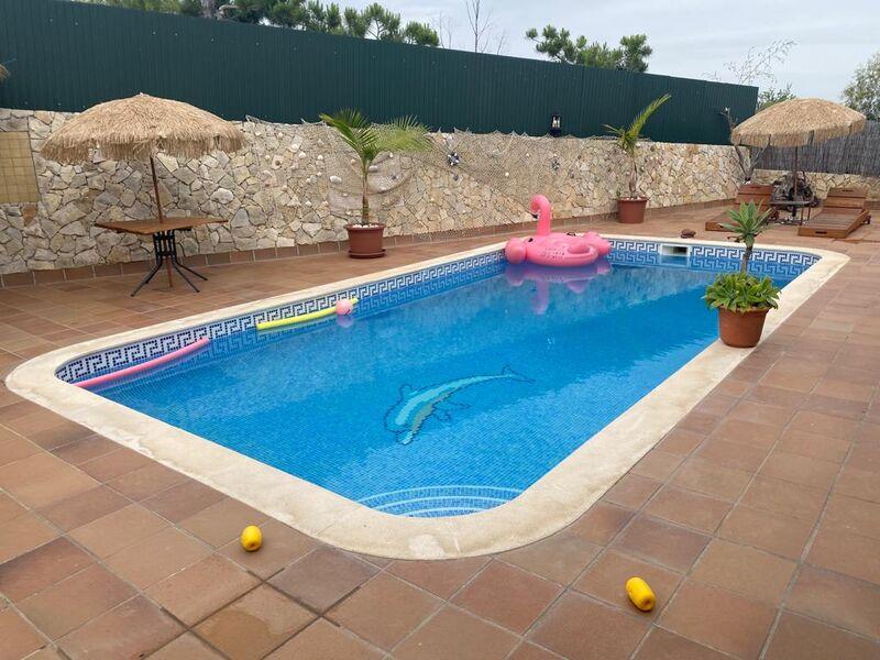 House V3 Montinho da Conveniência Castro Marim - equipped kitchen, barbecue, air conditioning, terrace, garage, swimming pool