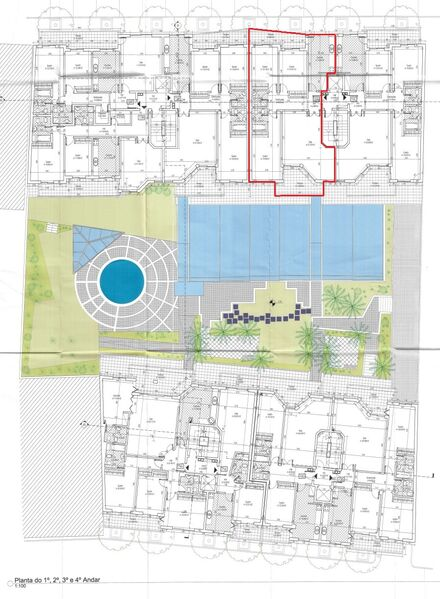 Apartamento T3 Quelfes Olhão - piscina, jardim