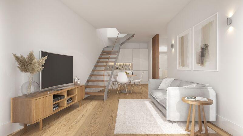 Apartamento novo T1+1 Vila Nova de Gaia - mobilado, varanda, jardim, ar condicionado