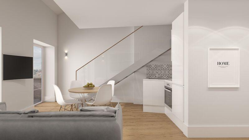 Apartamento novo T1 Vila Nova de Gaia - varanda, jardim, ar condicionado, mobilado
