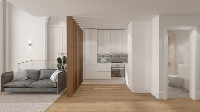 Apartamento novo T1 Vila Nova de Gaia - varanda, ar condicionado, jardim, mobilado
