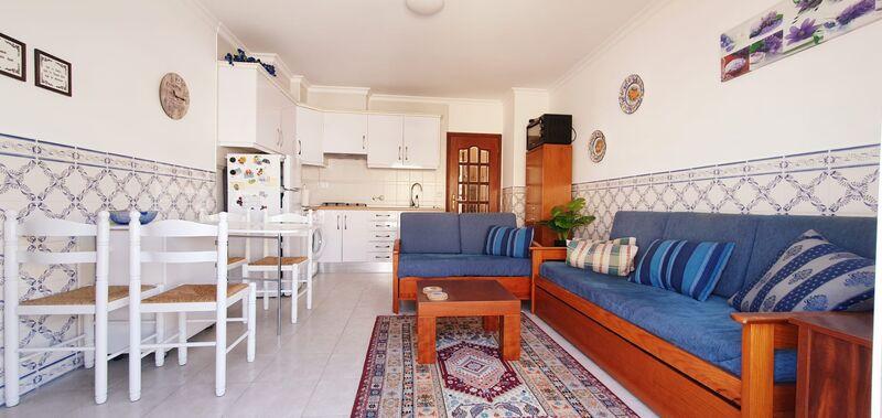 Apartamento T1 Monte Gordo Vila Real de Santo António - ar condicionado, terraço, vista mar, varanda, 4º andar