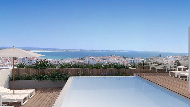 Apartamento T5 Moderno São Gonçalo de Lagos - ar condicionado, terraço, piscina, vidros duplos, arrecadação, condomínio fechado