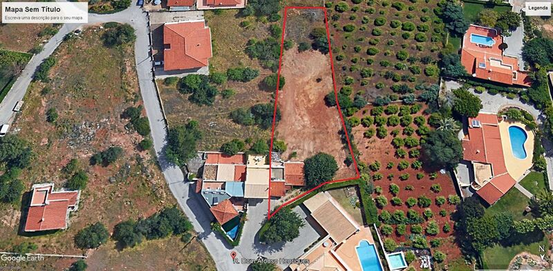 1555 m²  Land plot with swimming pool in Almancil