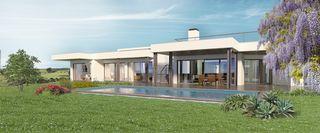 Moradia de luxo V6 Odiáxere - Vale da Lama Lagos - piso radiante, aquecimento solar, terraços, garagem, piscina, lareira